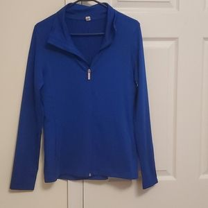 Blue Under Armour Lomg Sleeve Zip Up Shirt